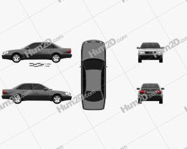 Audi A6 (C4) sedan 1994 car clipart
