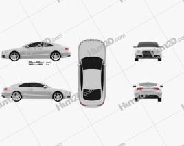 Audi S5 coupe 2012 car clipart