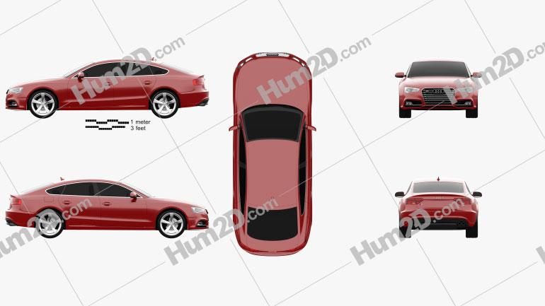 Audi S5 sportback 2012 car clipart