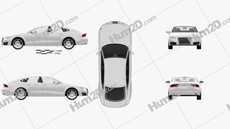Audi A7 Sportback mit HD Innenraum 2011 car clipart