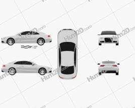 Audi A5 (8T3) coupe 2012 Clipart