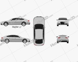 Audi A5 (8TA) sportback 2012 Clipart