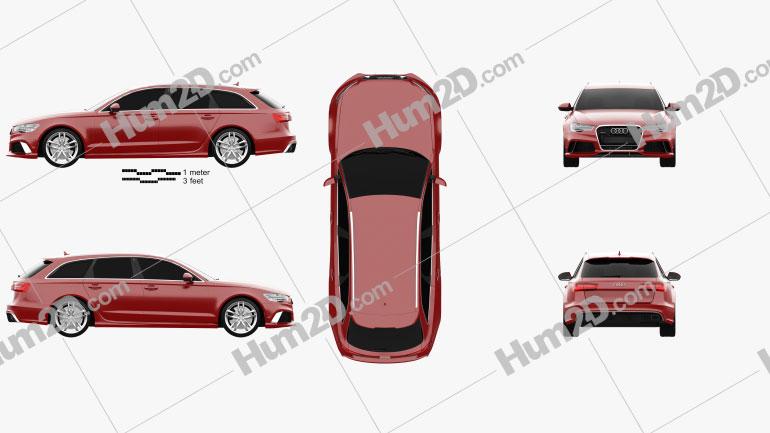 Audi RS6 (C7) avant 2014 Imagem Clipart