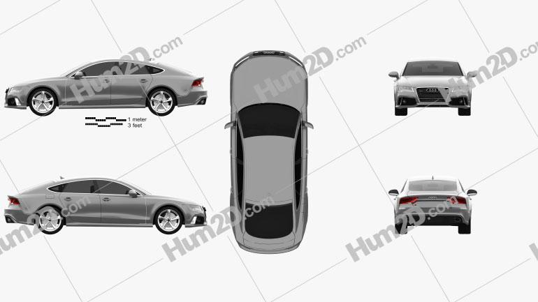 Audi RS7 (4G) sportback 2014 Clipart Image