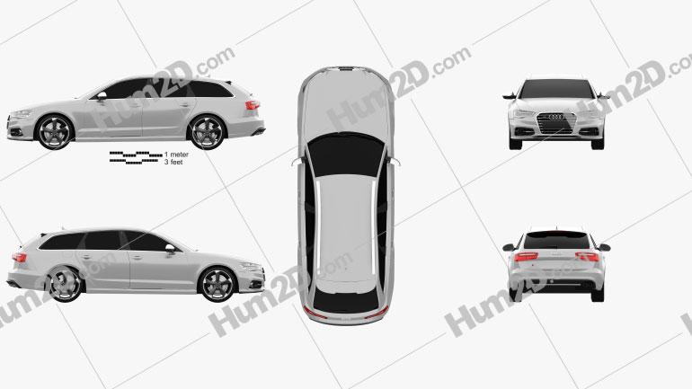 Audi S6 (C7) avant 2012 Clipart Image