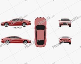 Audi S7 (4G) sportback 2012 car clipart