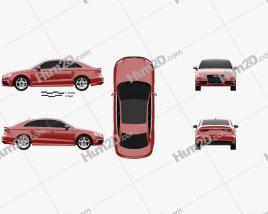 Audi A3 S line sedan 2013 Clipart