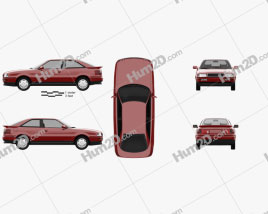 Audi Coupe 1991 Clipart