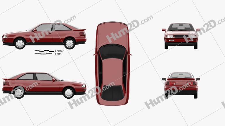 Audi Coupe 1991 Clipart Image