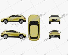 Audi TT offroad 2014 Clipart
