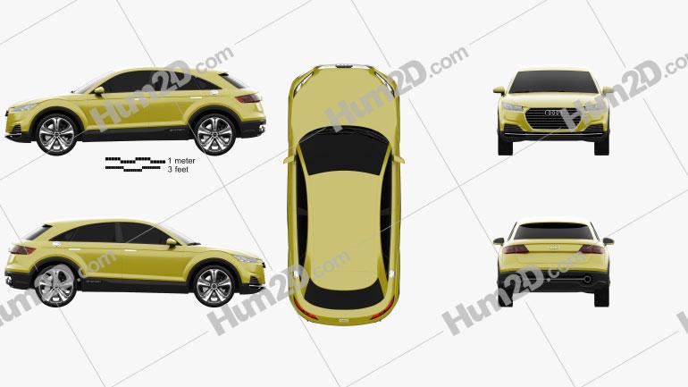Audi TT offroad 2014 Imagem Clipart
