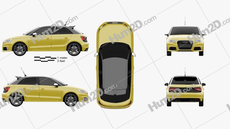 Audi S1 sportback 2014 car clipart