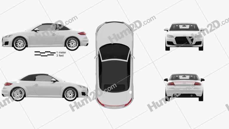 Audi TT (8S) roadster 2014 car clipart