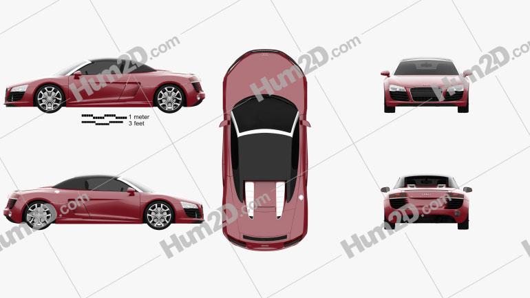 Audi R8 Spyder 2013 Clipart Image