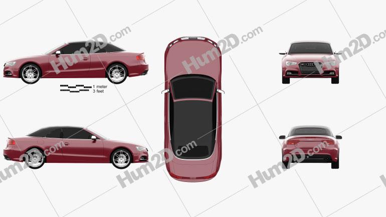 Audi S5 Cabriolet 2012 car clipart