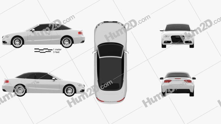 Audi A5 Cabriolet 2012 car clipart