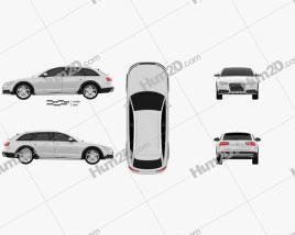 Audi A6 (C7) allroad quattro 2012 car clipart