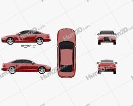 Audi S6 (C7) saloon 2012 car clipart