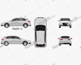 Audi A3 Sportback 2013 car clipart