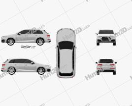 Audi Q7 S-line 2016 Clipart