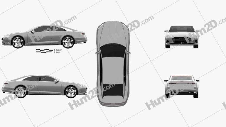 Audi Prologue Piloted Driving 2015 Clipart Bild