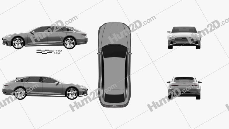 Audi Prologue Avant 2015 car clipart