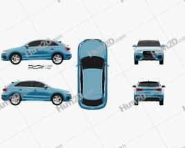 Audi Q3 2015 car clipart