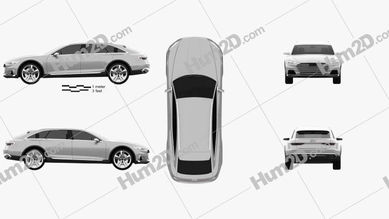 Audi Prologue Allroad 2015 car clipart