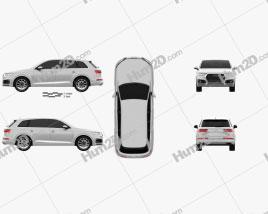 Audi Q7 2016 car clipart