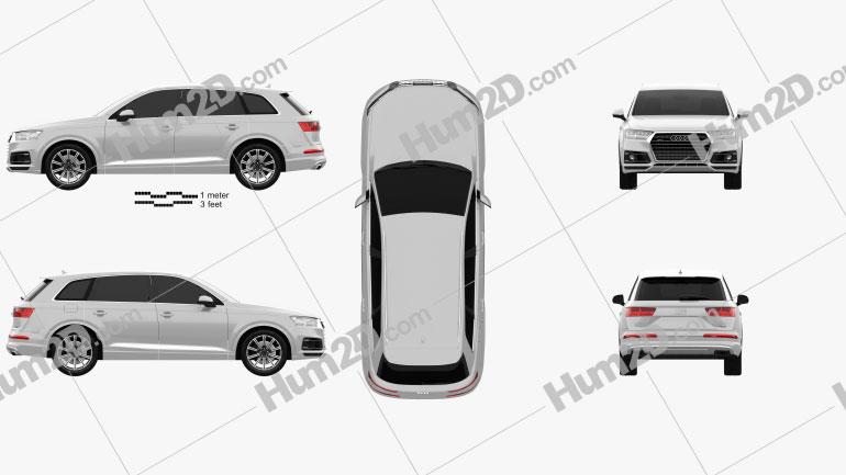 Audi Q7 2016 Imagem Clipart