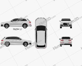 Audi Q7 e-tron 2017 car clipart