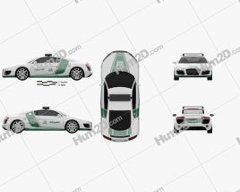 Audi R8 Police Dubai 2013 Clipart