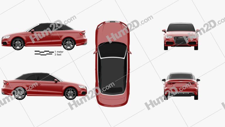 Audi S3 Cabriolet 2014 car clipart