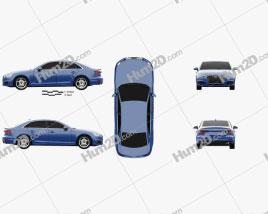 Audi A4 (B9) sedan 2016 car clipart