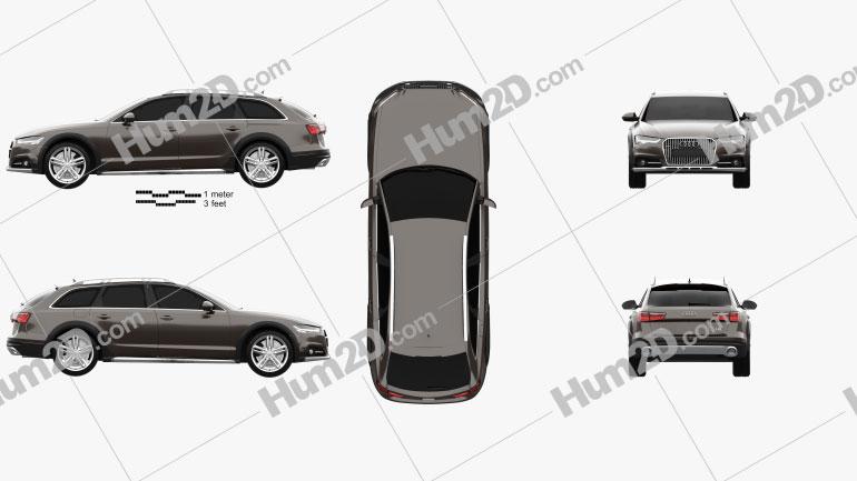 Audi A6 (C7) Allroad 2015 car clipart