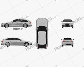 Audi A6 (C7) avant 2015 car clipart