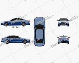 Audi A6 (C7) saloon 2015 car clipart