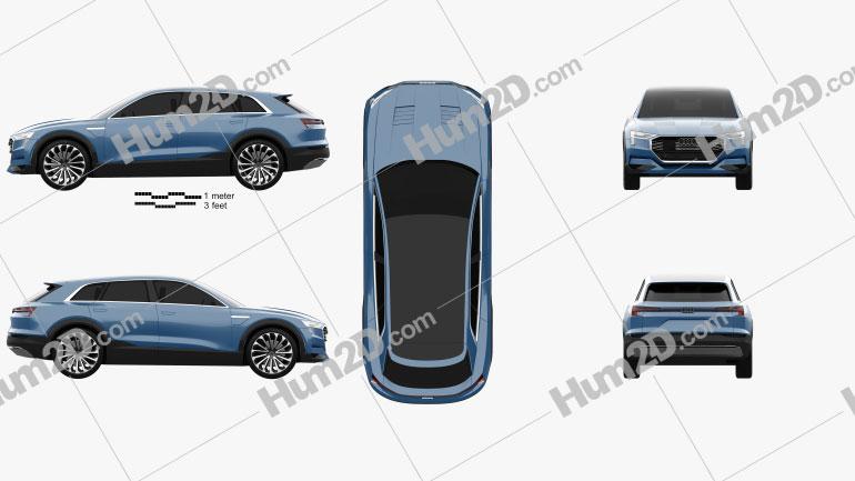 Audi E-tron Quattro 2015 car clipart