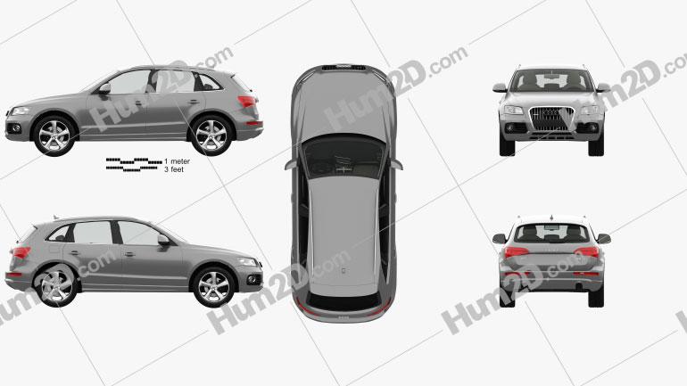 Audi Q5 with HQ interior 2013 car clipart