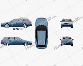 Audi S4 Avant 2003 Clipart