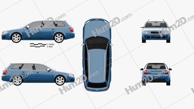 Audi S4 Avant 2003 car clipart