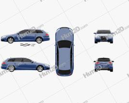 Audi S6 Avant 2006 Clipart