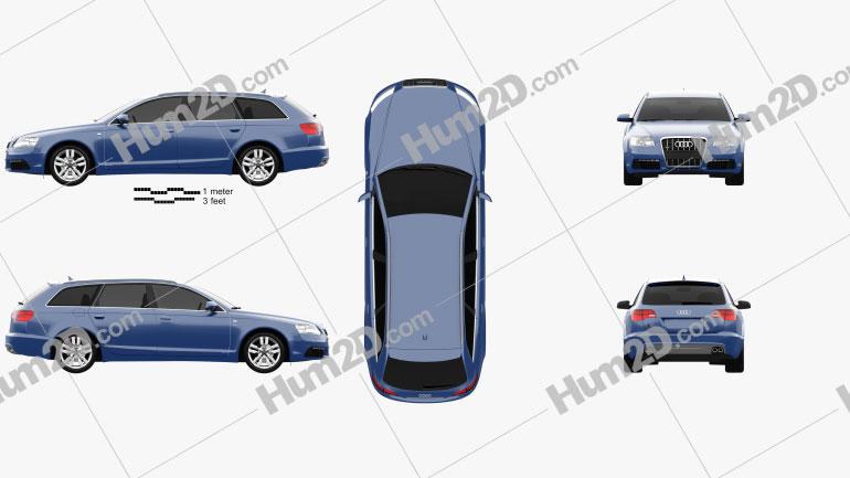 Audi S6 Avant 2006 car clipart