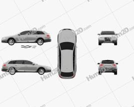 Audi A6 (C6) Allroad 2006 Clipart
