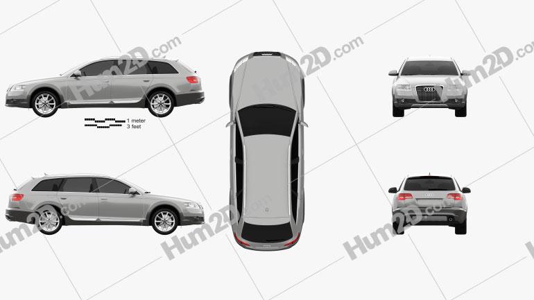 Audi A6 (C6) Allroad 2006 car clipart