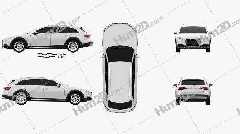 Audi A4 (B9) Allroad 2017 car clipart
