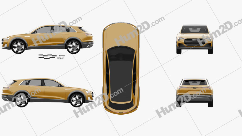 Audi h-tron quattro 2016 car clipart