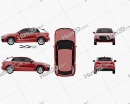 Audi Q2 S-Line 2017 car clipart