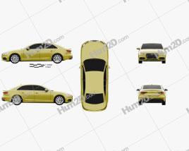 Audi A4 S-Line 2016 Clipart