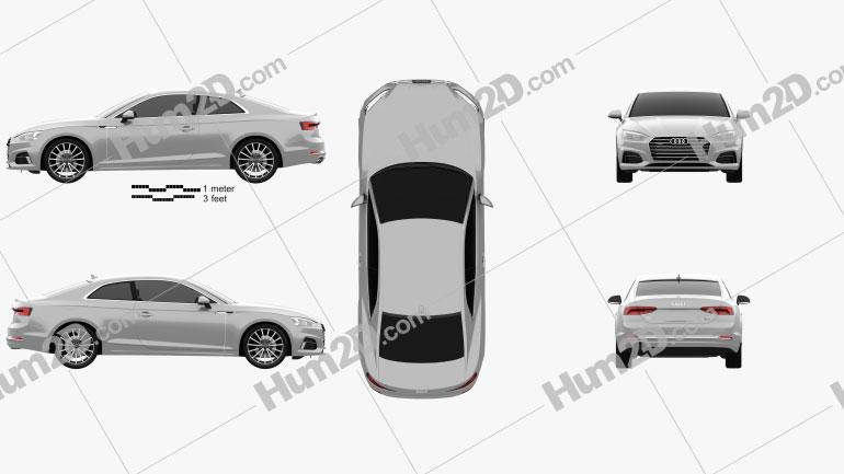Audi A5 Coupe 2016 car clipart